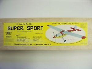 Sig Super Sport RC Model Airplane Kit Foam Wing Balsa Fuse
