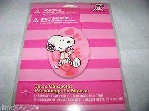 Valentines Day Peanuts Snoopy Love Foam Craft Kit
