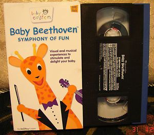 Baby Beethoven Einstein VHS Symphony of Fun Musical Visual Educational Video VGC