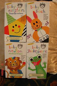 Baby Einstein Video 4 Pack Videos Educational Lot Newton Bach Shakespeare VHS