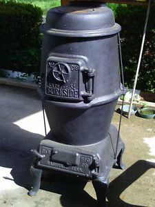 1890's Cast Iron Wood Stove Enterprise Burnside Large Lightly Renovated
