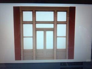 DPM Street Level Victorian Window HO Scale Building Kit Model Trains 30141