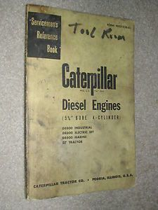 Cat Caterpillar D8800 Engine Service Manual 4 Cyl Servicemens Reference Book D7