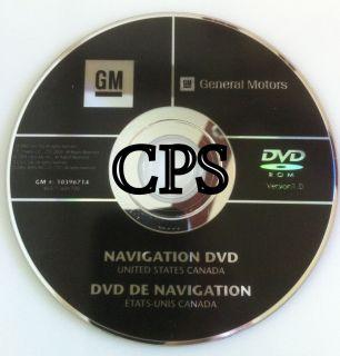 2007 2008 2009 2010 GMC Acadia GM Navigation Disc DVD 10396714 GPS Map Disk