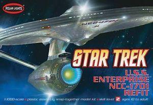 Polar Lights 1 1000 Star Trek USS Enterprise NCC 1701 Refit Version 820
