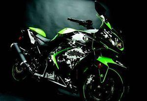 Flu Designs Kawasaki Graffiti Sport Bike Graphic Kit Black White Ninja 250 08 12