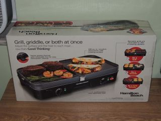 Hamilton Beach 3 in 1 Grill Griddle Indoor Electric