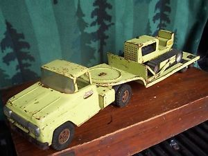 Vintage Tonka Toy Construction Flatbed Bulldozer Truck