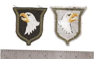 347 US Army 101st Airborne Patch White Tongue OD Eye