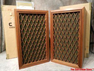 Vintage Pioneer CS 77A CS 77A Floor Standing Speakers Audio w Box Instructions