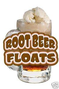"Root Beer Float Drinks Food Menu Sign Decal Sticker 14"""