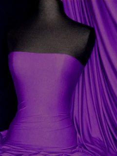 Purple Viscose Cotton Stretch Lycra Fabric Material
