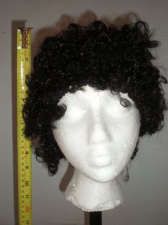 Curly Afro Wig Black Disco 70's Greek God Man Costume