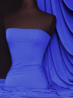 Royal Blue Viscose Cotton Stretch Lycra Fabric Material