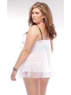 Women's Super Sexy Lace Style Dress Babydoll Night Clubwear Plus Size XXXL 3XL