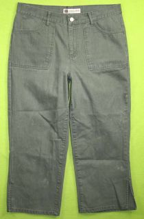 Faded Glory Authentic Brand Sz 12 Womens Green Jeans Denim Pants GT26