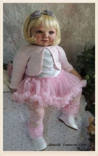 Reborn Art Toddler Doll Adrie Stoete 29 inches Collectible Lifelike Doll