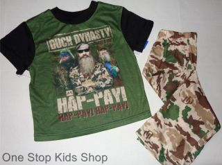 Duck Dynasty Girls or Boys 4 5 6 6X 7 8 10 12 14 16 PJs Set Pajamas Shirt Pants