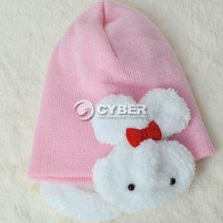 Boys Girl Baby Toddler Kids Winter Ear Flap Warm Hat Beanie Cap Crohet Rabbit