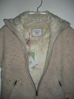 Pepe Jeans London Girls 10 Knit Cardigan Jumper Jacket Faux Fur Lining