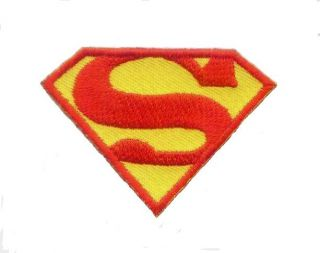 Superman Logo Embroidered Iron on Applique Patch
