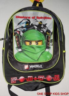 Ninjago Boys School Bag Backpack or Lunch Box Tote Pouch Cooler Spinjitzu Lego