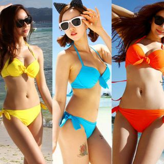 Sexy Girl Lady Bikini Set Push Up Padded Bra Swimsuit Bathing Suit Swimwear