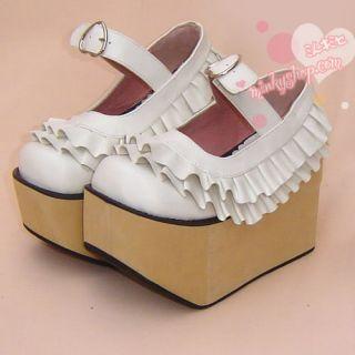 Frill Rocking Horse Platform Shoes Sweet Lolita Pink