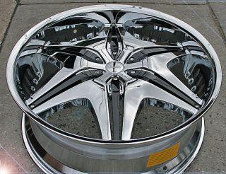 """Akuza Big Papi 712 20"""" Chrome Rims Wheels Ford Explorer FX35 MDX 45 5H"""