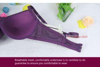 Girls Sexy Hot Thin Cup Purple Underwire Bra 34 36 38 B C or Panties Thongs