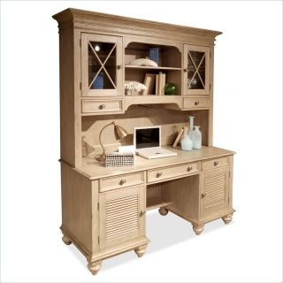 Riverside Furniture Coventry Credenza & Hutch in Driftwood   32433 32436 KIT