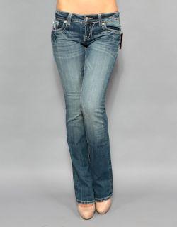 New Womens Miss Me JP5124B11 Daisy Duke Boot Cut Embellished Jeans 28