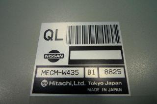 99 Nissan Pathfinder Infiniti QX4 ECU ECM Engine Control Computer Mecm W435 B1