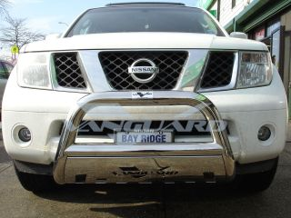 08 12 Nissan Pathfinder Bull Bar Grille Guard Bumper Protector w Skid Plate s S