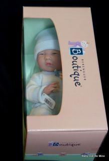 "New in Box Berenguer 15"" La Newborn Striped Sleeper Real Boy 18538 Made in Spain"
