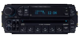 Dodge Jeep Chrysler Durango RAM RBQ Radio 6 Disc Changer CD Player Stereo RDS