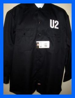 U2 Dickies Workshirt T Shirt New Bono 80's Rock New Irish