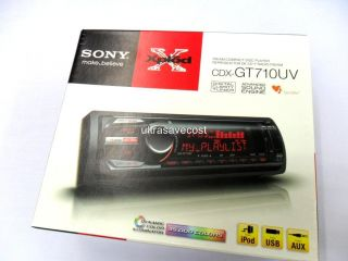 New 2012 Sony CDX GT710UV CD  WMA Aux in USB iPod Car Stereo Player