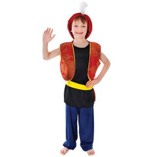 Childs Arabian Boy Sultan Aladdin Genie Ali Baba Christmas Nativity Play Costume