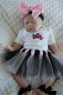Beautiful Reborn Newborn Baby Girl BB Anna Light Brown Hair Magnetic Pacifier