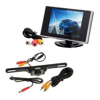 """3 5"""" TFT LCD Car Rear View Monitor Night Vision Car Rear View Backup Camera"""