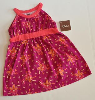 Tea Collection Venda Halter Dress Floral Fruit Punch Pink Purple 18 24M New