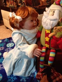 """Reborn Baby Girl """"Irish Noel"""" Christmas Baby by Donna RuBert w 5 Holiday Outfits"""