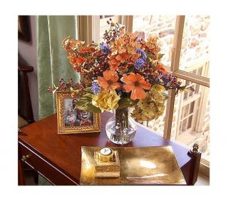 Water Illusion Autumn Fall Hydrangea Silk Floral Arrangement Valerie Parr Hill