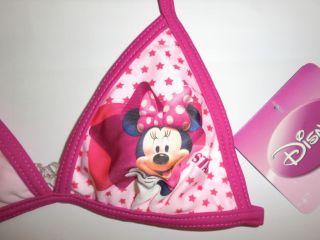 Girls Disney Minnie Mouse Bikini Bathers Swimwear Swimsuit Tankini 5 7T