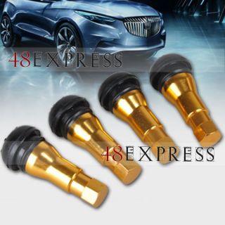 4XBOLT in Alloy Car Chrome Sleeved Tubeless Tire Valve Stems Golden Pressure