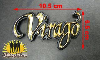 ★chrome Golden Gas Tank Decal Badge Emblem for Yamaha Virago Motorcycle Series★