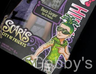 New 2012 Mattel Monster High Scaris City of Frights Deuce Gorgon Boy Doll HTF