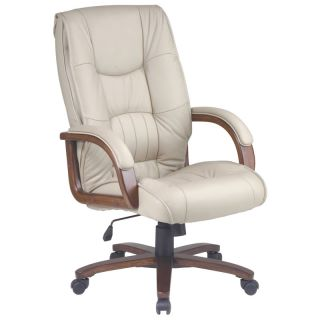 Tan Leather Executive Computer Office Desk Chair