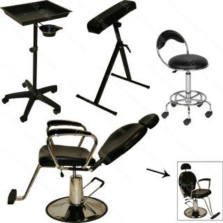 Tattoo Hydraulic Reclining Barber Chair Arm Bar Rest Black Tray Salon Equipment